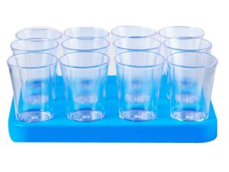 50Ml Bulk Shot Glass Tray X 12