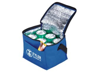 6-Can Cooler With Foil Liner & Pocket - Non-Woven/Foil Lining
