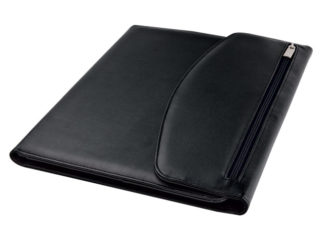 A4 Folio With Calculator And Zippered Flap Pocket - 40 Pages