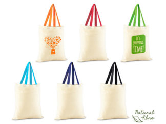 Colour-Cotton Natural Fibre Bag