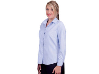Cotton Rich Fibre Dyed Self Stripe Ladies Wendy Blouse