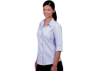 Cotton Rich Yarn Dyed Stripe Ladies Wendy Blouse