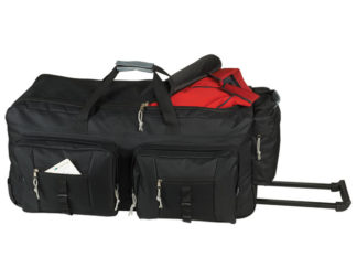 Dual Front Pocket Rolling Travel Duffel